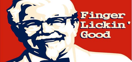 """Famous Advertising slogan """"finger lickin' good"""" can't be seen any ..."""