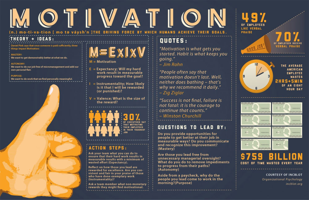 info graphic for business owner motivation