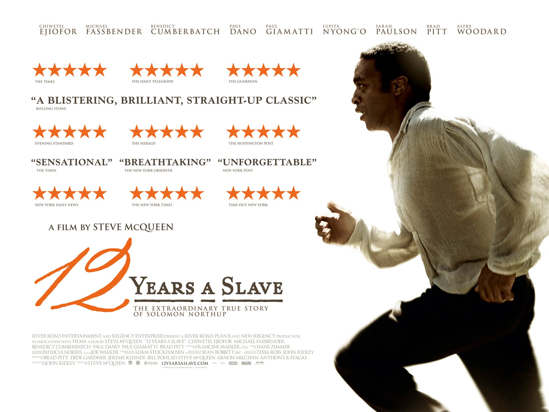 12 Years A Slave WIN Best Picture