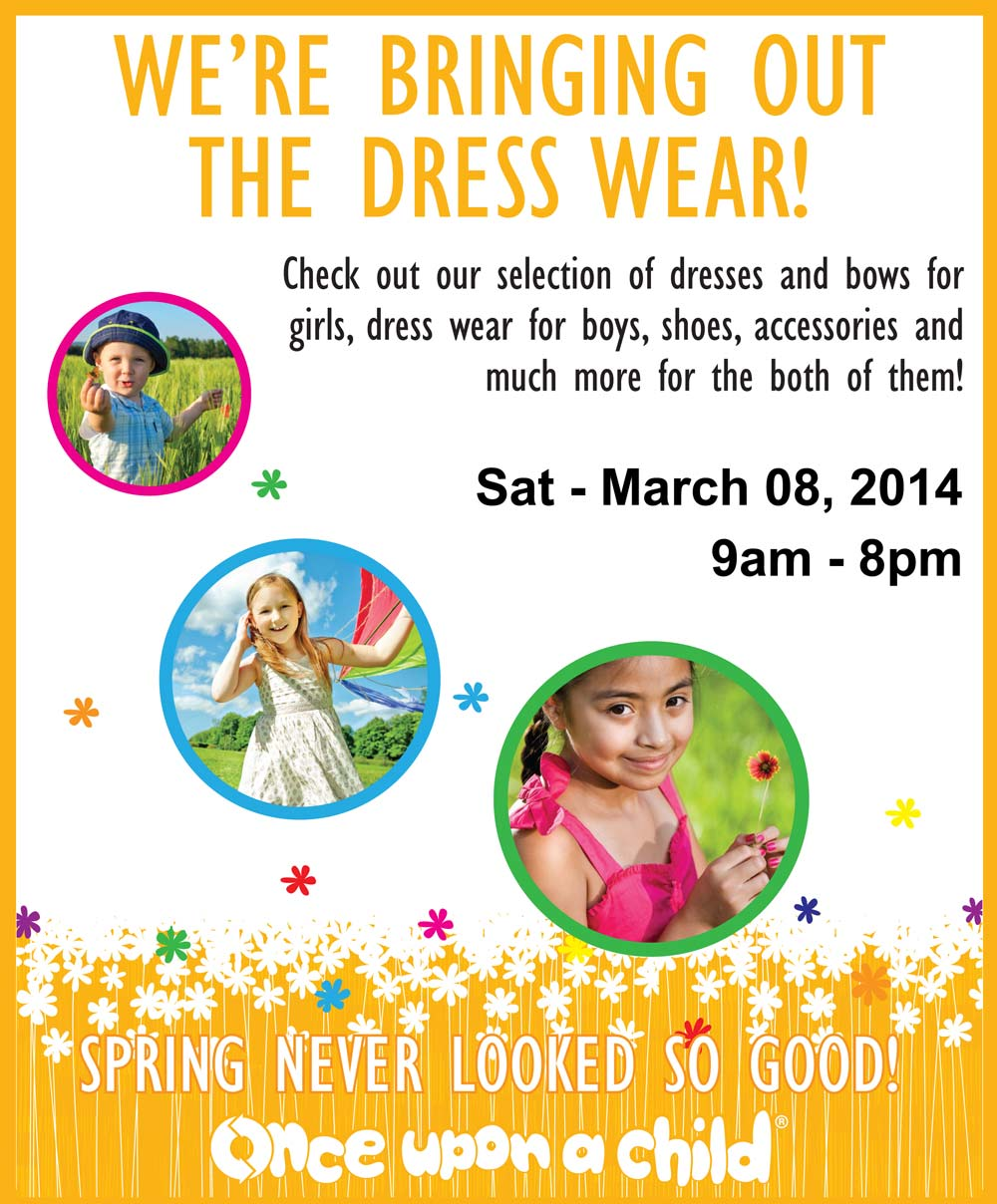 Spring dress wear event at once upon a child